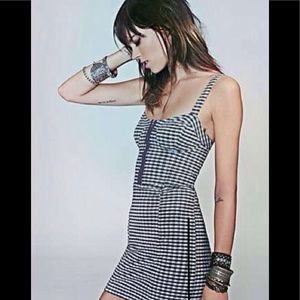 Free People Love Of Gingham Body Con Dress SZ L